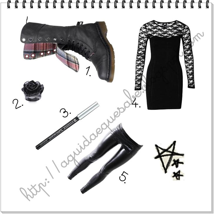 Moda Black Fashion Rock