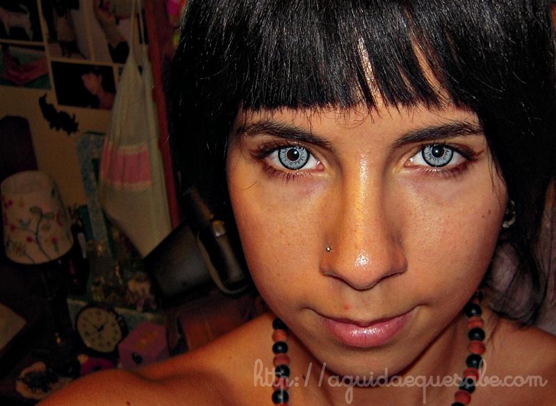 lentes contacto cinzentas