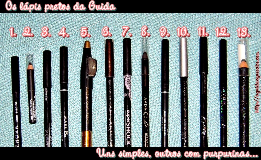lápis preto olhos