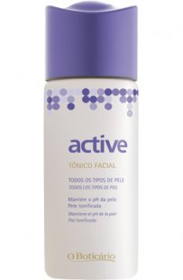 tónico rosto pele sensível mista oleosa seca active boticário