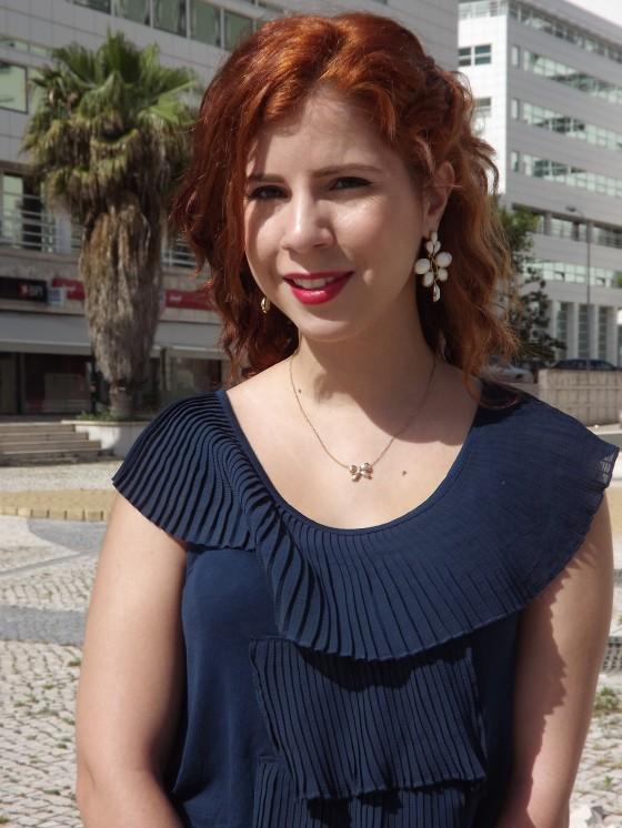 look do dia lotd vestido pepe jeans cabelo ruivo vintage batom vermelho