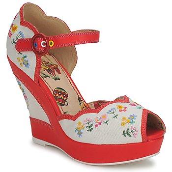 miss l'fire sandálias vintage sapatos spartoo pinup rockabilly pin up peep toe bordadas
