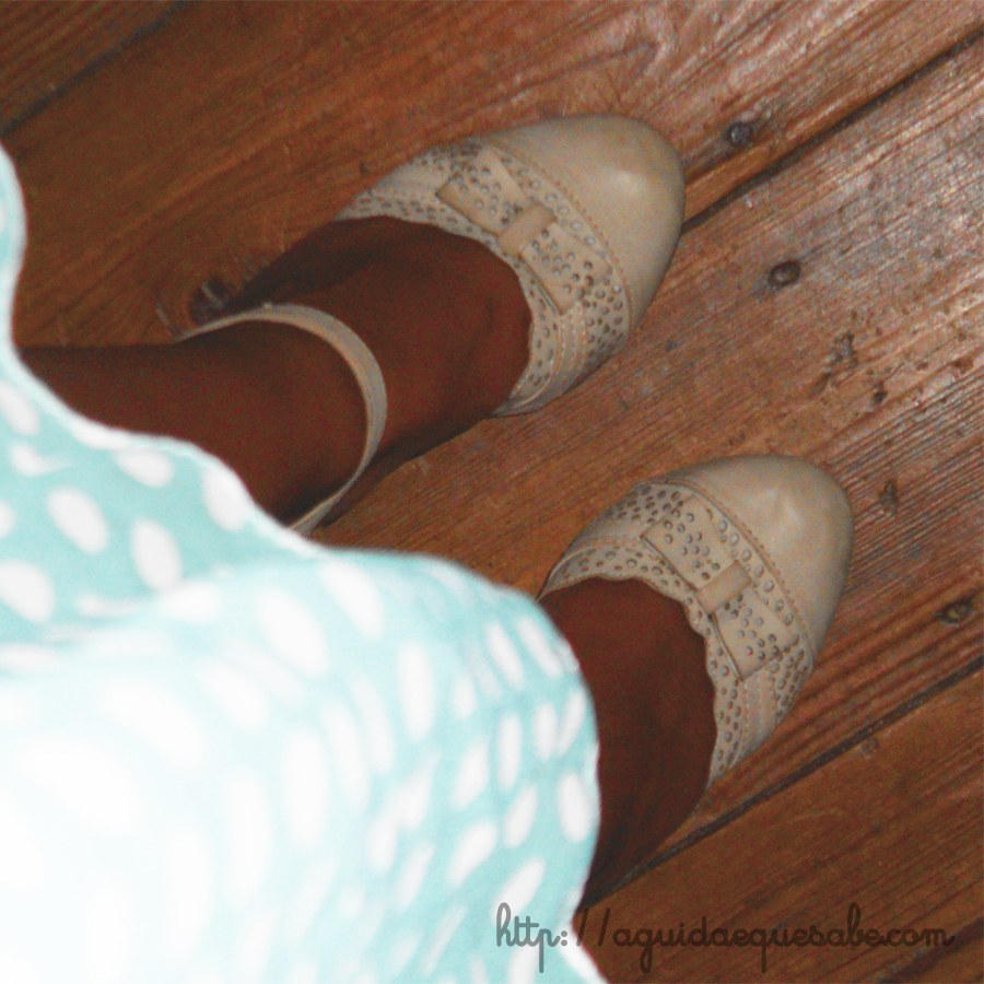vestido low cost china sammydress bolinhas pintas menta polka dots vintage pinup sapatos sandálias spartoo betty london moony mood