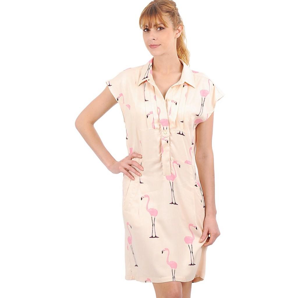 vero moda vestido flamingos vintage spartoo