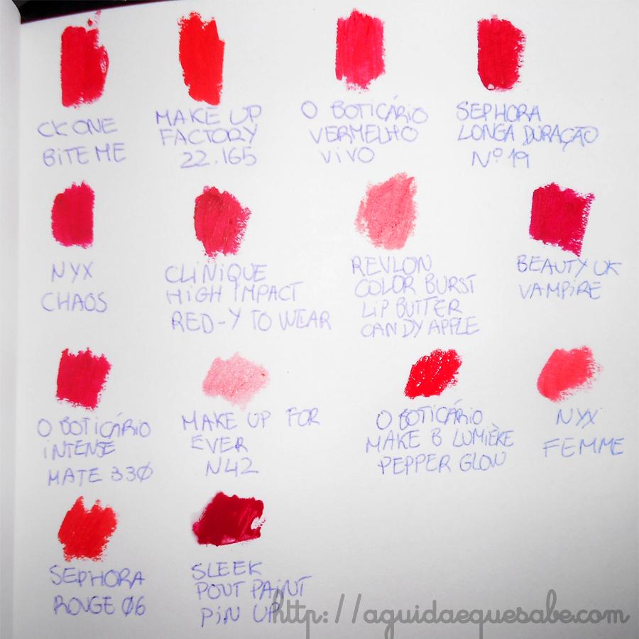 batom vermelho makeup maquilhagem beleza review swatch