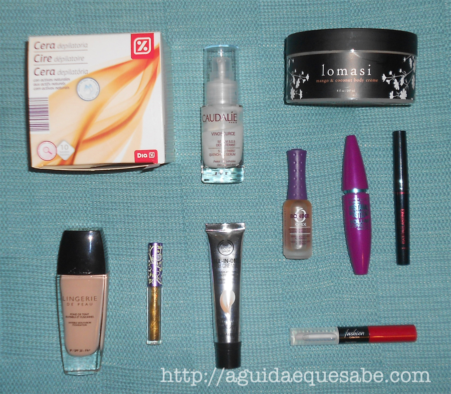 favoritos beleza maquilhagem top 10 orly clarel minipreço guerlain lime crime the body shop boticário maybelline avon
