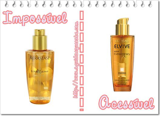 cosméticos low cost maquilhagem dupes makeup óleo cabelo kerastase l'oreal elvive
