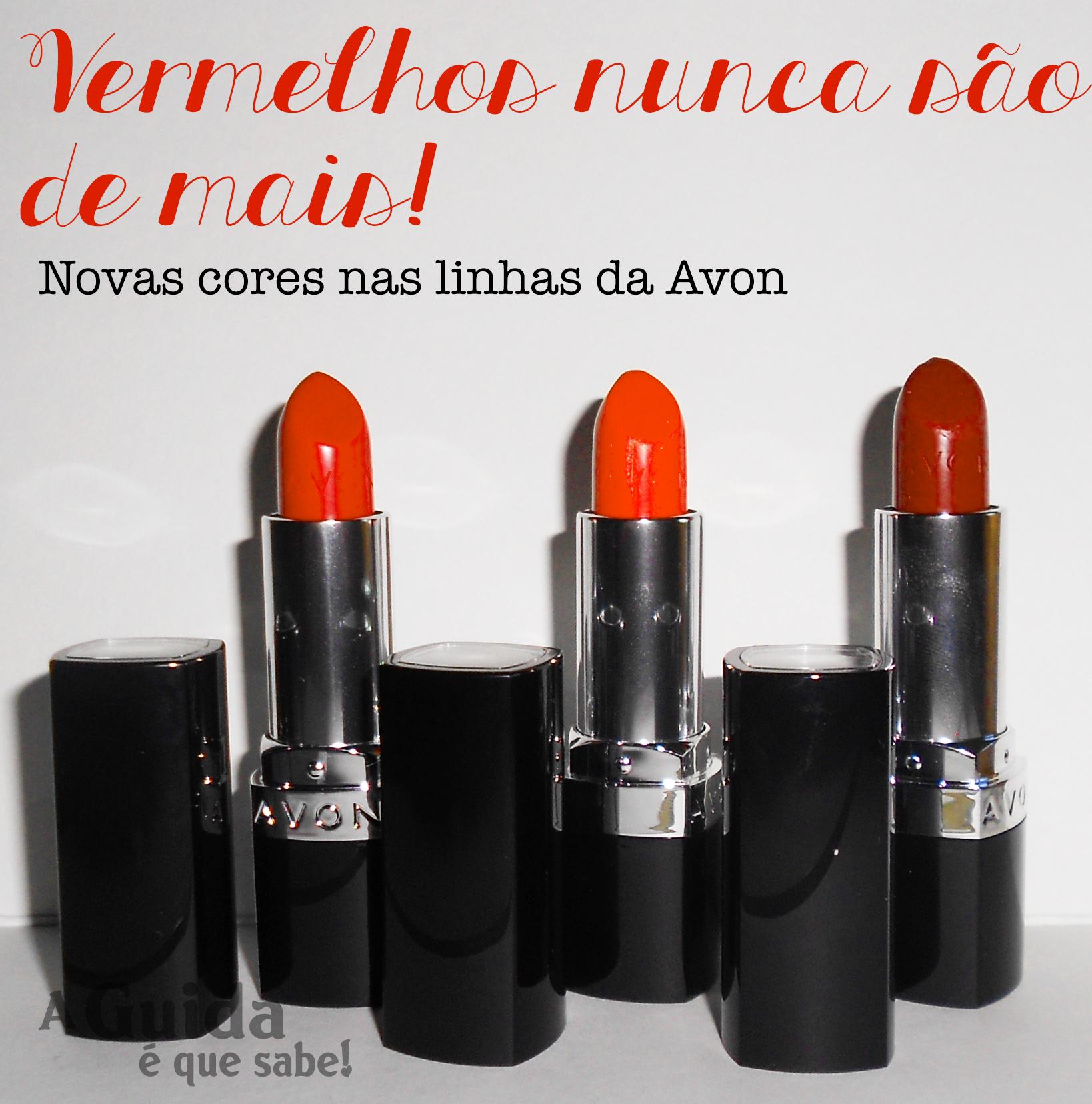 avon batom vermelho review resenha swatch maquilhagem makeup maquiagem