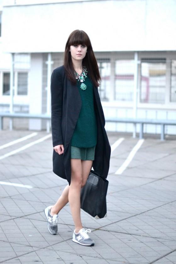 ténis sapatilhas new balance vestido saia moda ootd tendências trendy look do dia