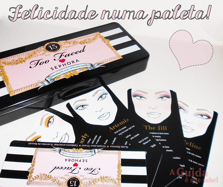 Too Faced Loves Sephora paleta maquilhagem makeup review resenha swatch