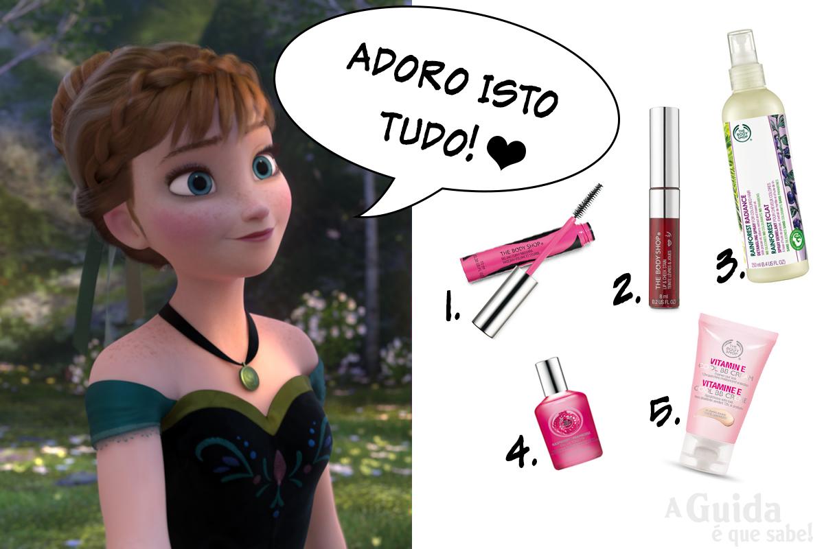 princesa anna elsa frozen the body shop review beauty makeup maquilhagem blog swatch carnaval
