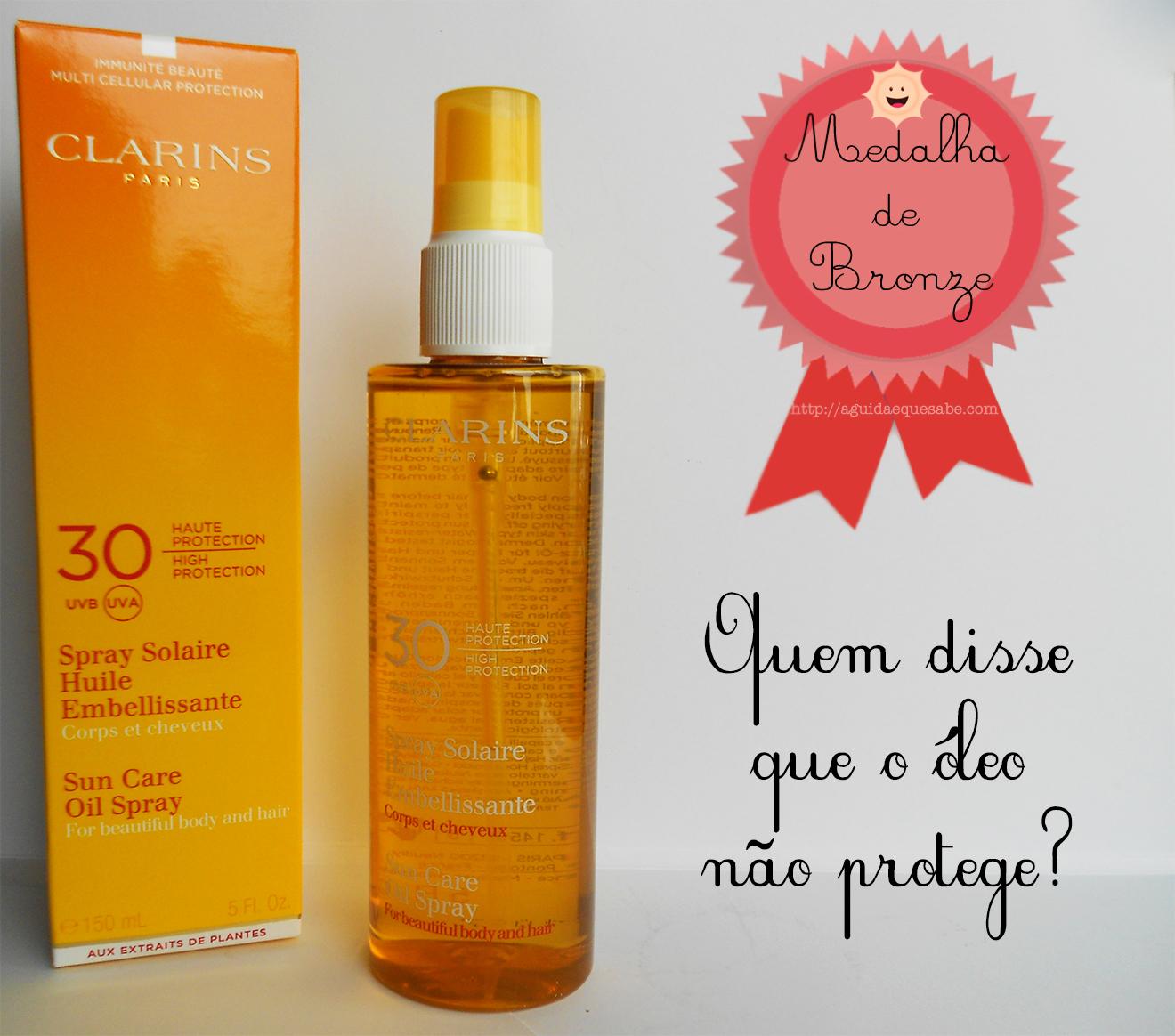 clarins sun care oil spray fps spf protector solar óleo seco review opinião beleza beauty blog