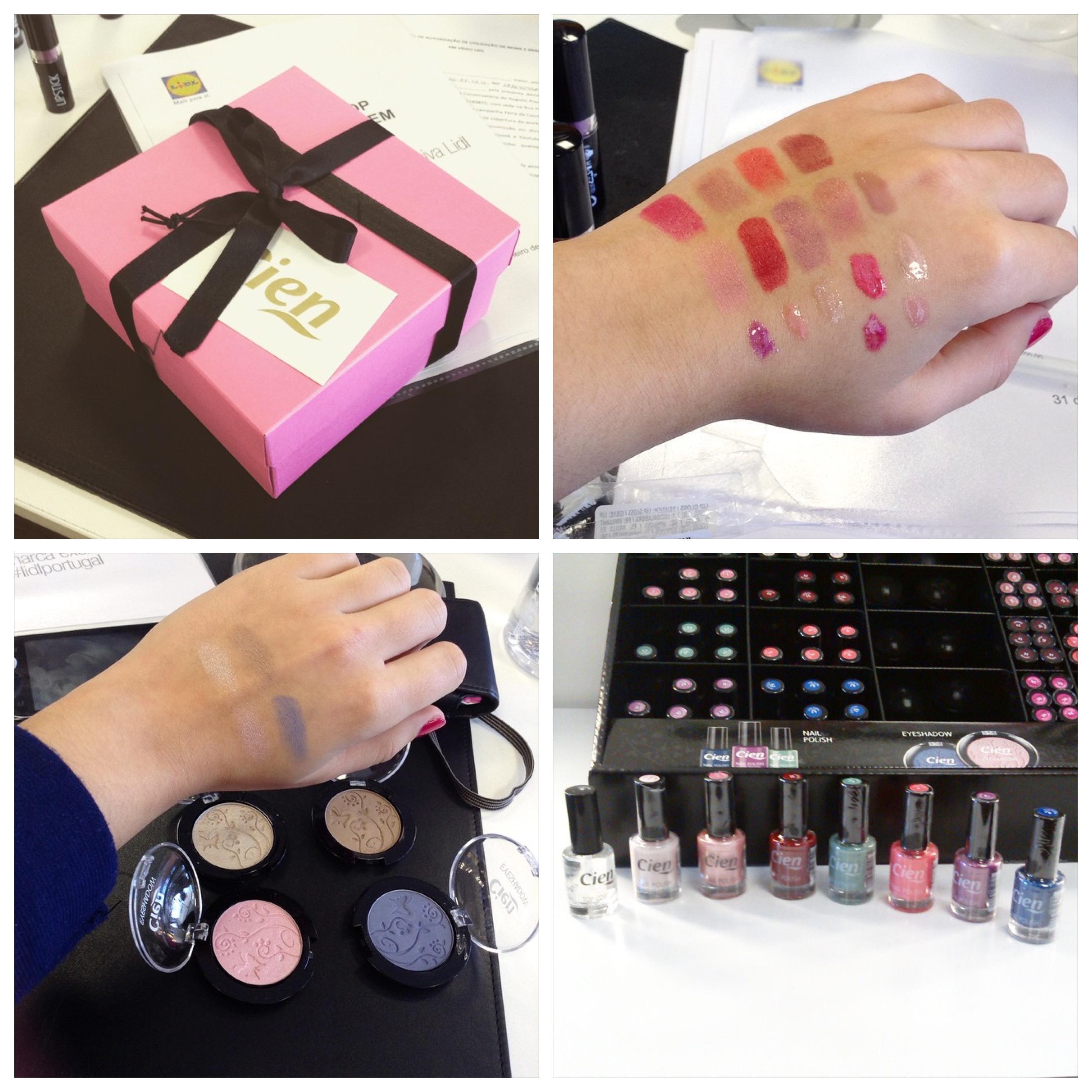 lidl maquilhagem cien makeup beauty beleza review swatch opinião resenha blog workshop maquilhagem