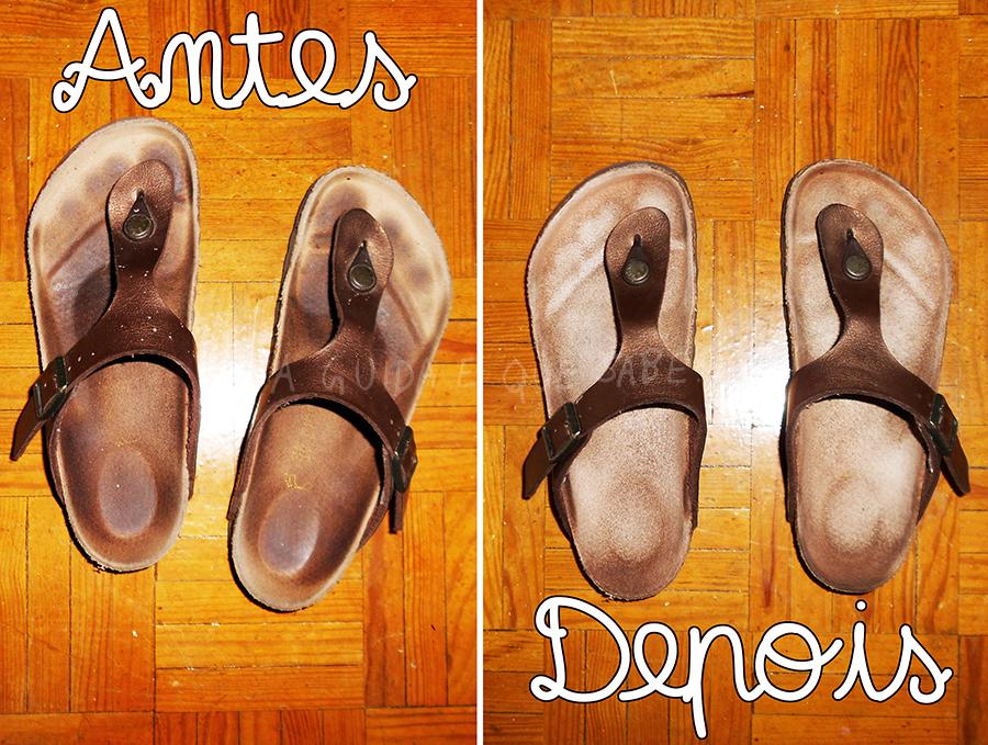 limpar sandálias birkenstock moda fashion ootd lotd look do dia oxi action limpeza