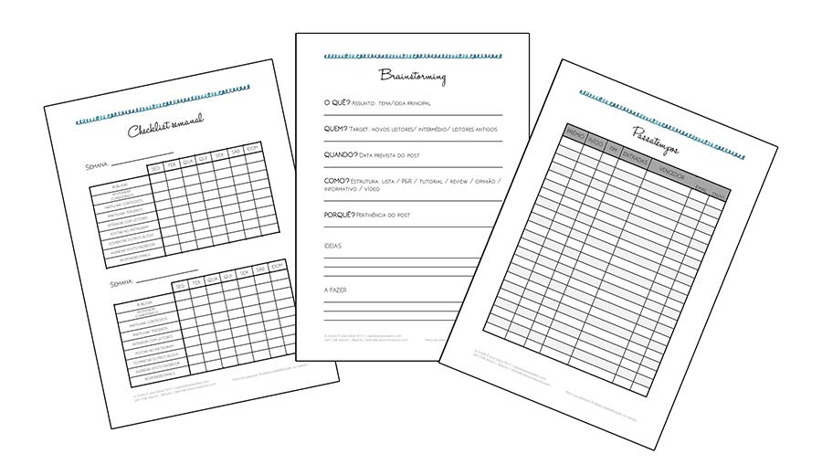 agenda grátis para blog planner diy organização bullet journal planificação papelaria