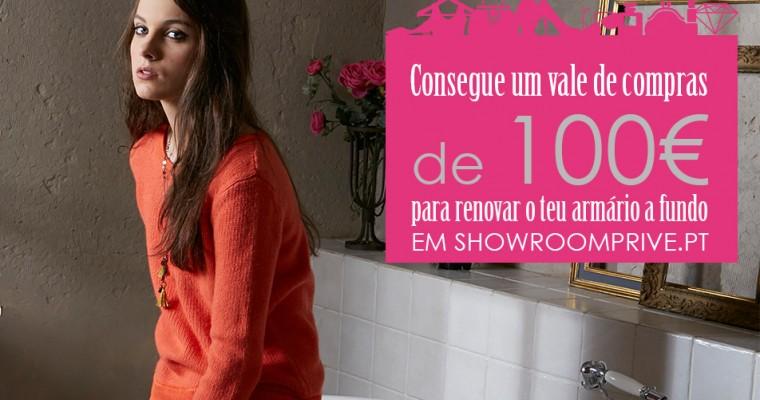 Passatempo de S. Valentim – Vale 100€ Showroomprive