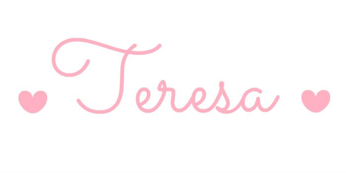 Teresa: o nome da minha ervilha.