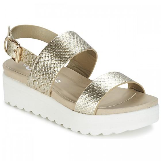 Sandálias Victoria Sandals cunha dourado pele ootd calçado lotd look do dia fashion trends moda