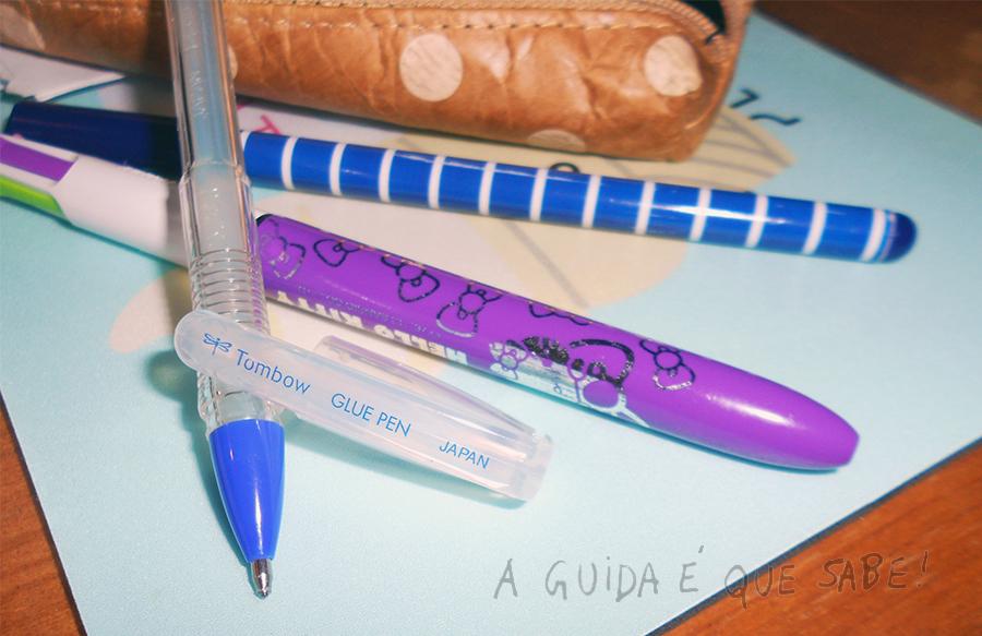 Caneta Cola Tombow Glue Pen papelaria material escolar escritório fnac review escrita bullet journal trabalhos manuais