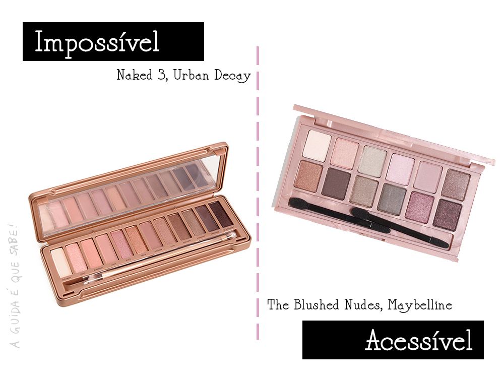 Naked 3 Dupe urban decay maybelline maquilhagem makeup blog