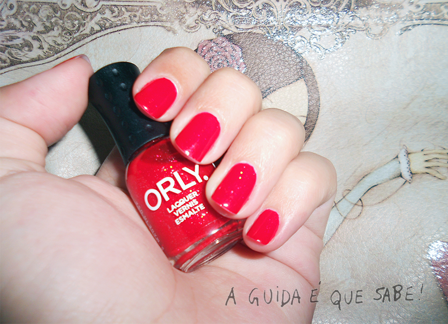 Red Carpet Orly verniz unhas manicure esmalte purpurinas review swatch beleza beauty maquilhagem blog