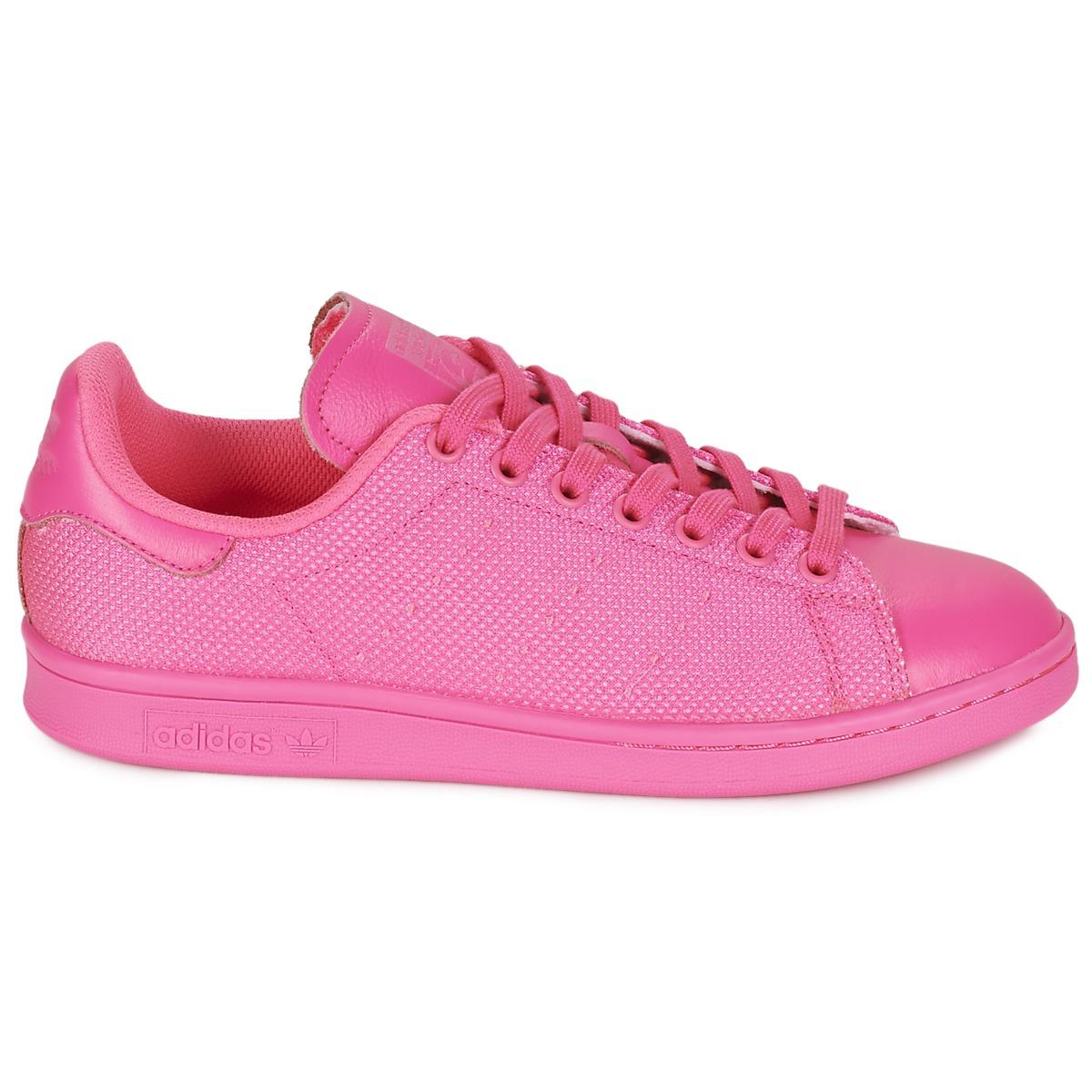 pink adidas stan smith rosa