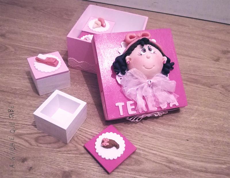 caixa bebé biscuit artesanato diy portugal avó filó recordações
