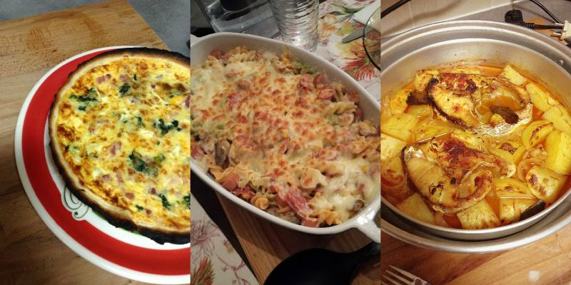 comida cozinha receitas fácil básico económico quiche massa forno peixe assado