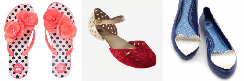 zaxy mel melissa moda ootd lotd look do dia sapatos calçado mulher senhora sabrinas coração