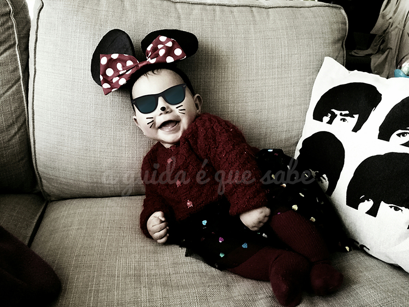 bebé carnaval disfarce minnie mickey disney diy menina