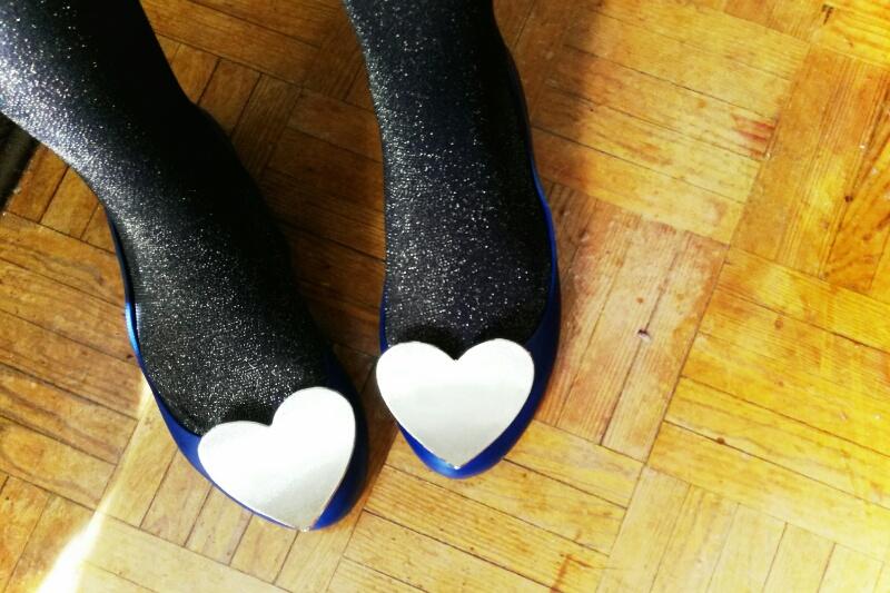 zaxy sabrinas mel melissa sapatos heart pop coração moda ootd lotd look do dia glitter dourado