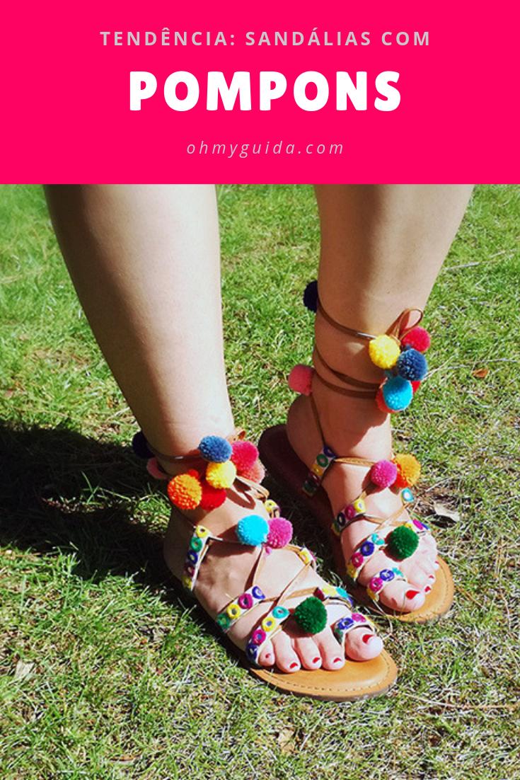 sandálias com pompons natura diy trend tendências verão 2019