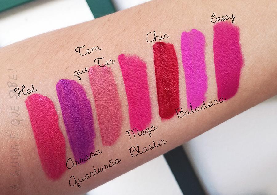 batom intense líquido mate resenha review opinião swatch amostra boticário maquiagem maquilhagem makeup beleza beauty
