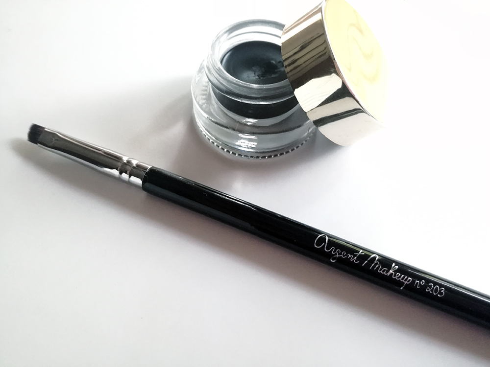 pincel eyeliner delineador gel argent makeup 203 review classic girly marca portuguesa