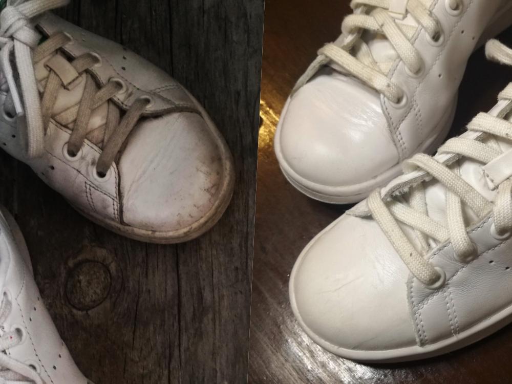limpar ténis sapatilhas brancos adidas shoelução
